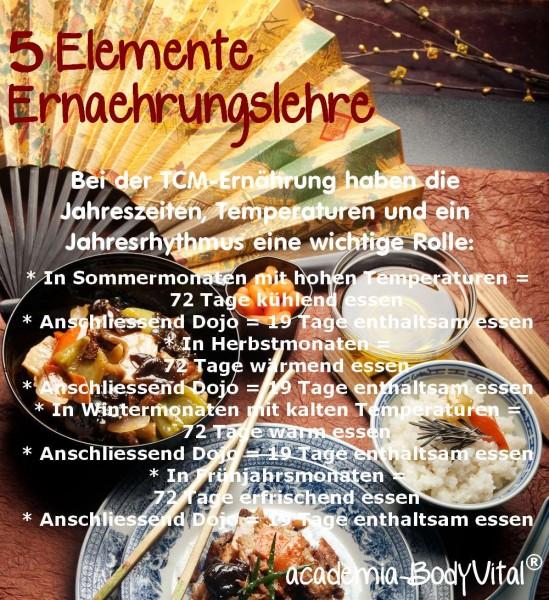 Prämie >89€: 5 Elemente Ernährung Basiskurs